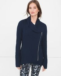 Long-Sleeve Cowl Neck Jacket