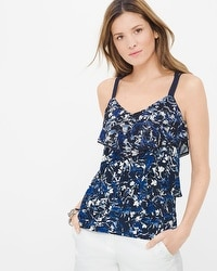 Abstract Floral Print Date Top