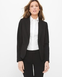 Lace-Up Detail Seasonless Black Jacket