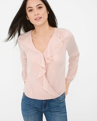 Ruffle Surplice Blouse