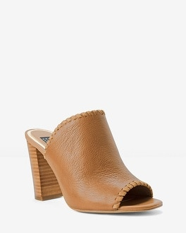 Leather Whipstitch Mules