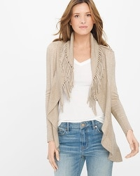 Fringe Cover-Up Sweater