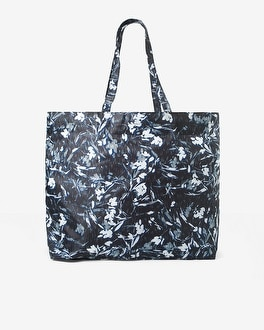 Abstract Floral Foldable Tote