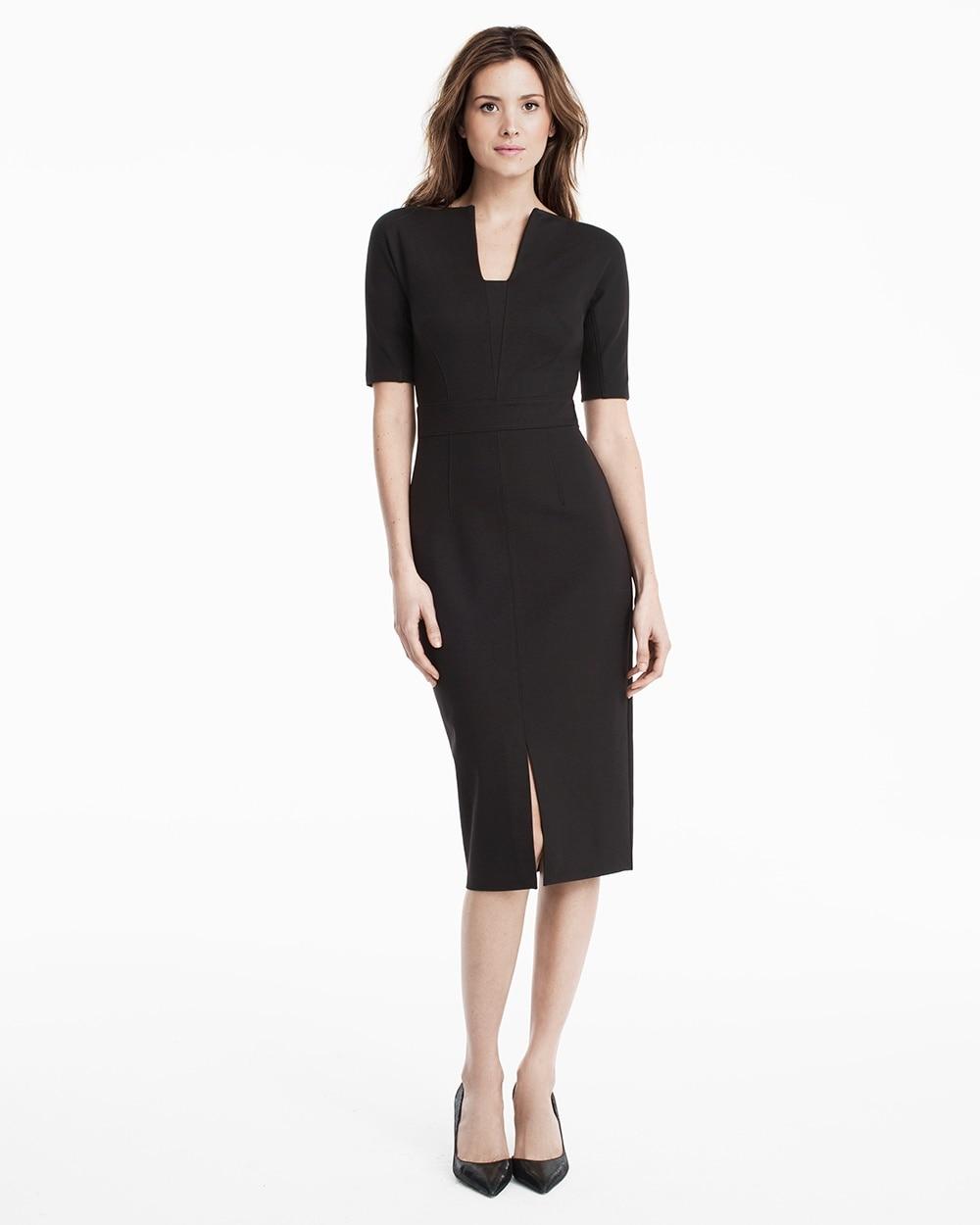 Elbow Sleeve Black Sheath Dress Whbm
