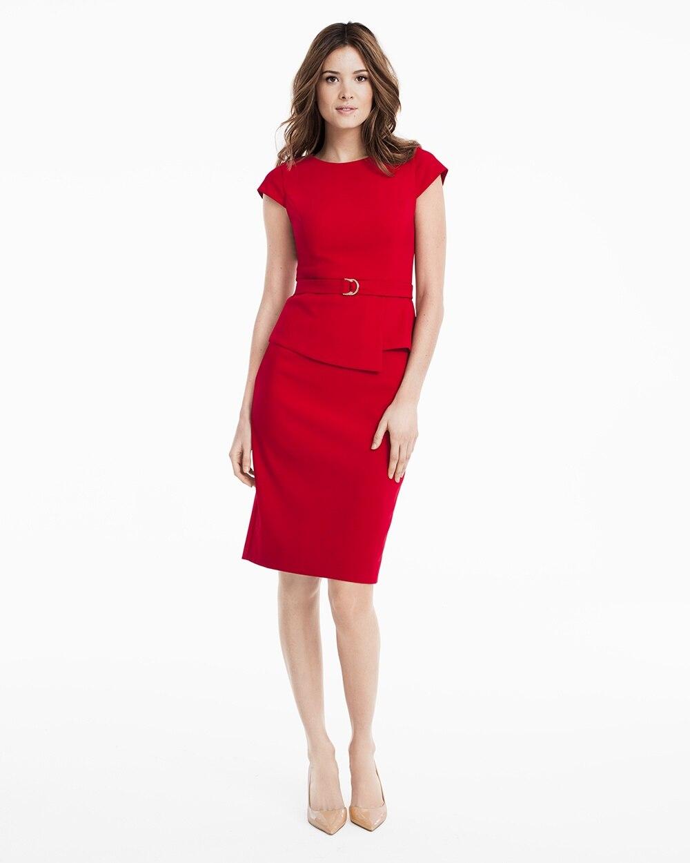 Cap Sleeve Peplum Sheath Dress White House Black Market