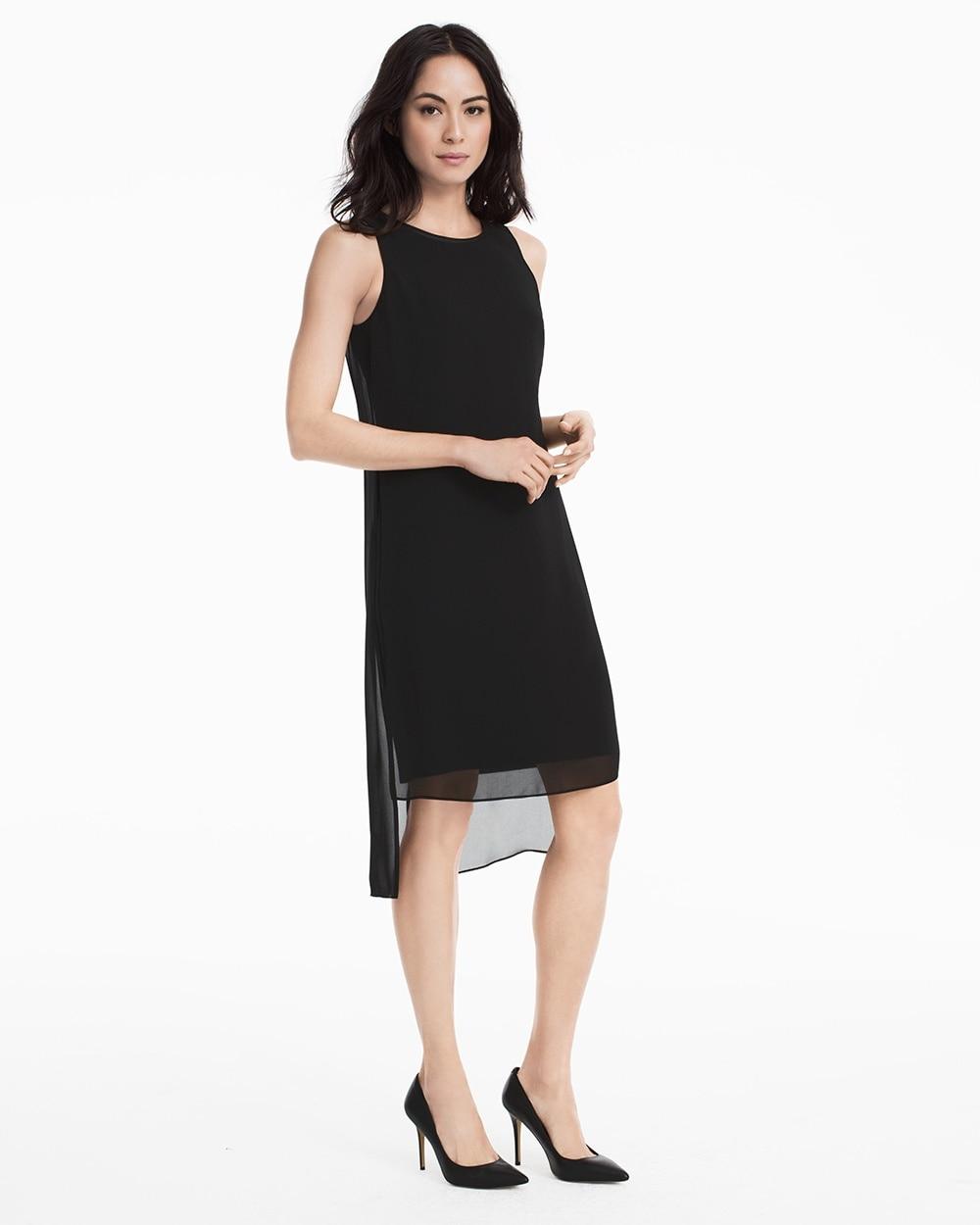Black Woven Overlay Dress White House Black Market