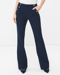 Nautical Slim Flare Pants
