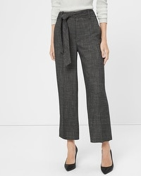 Novelty Wide-Leg Crop Pants