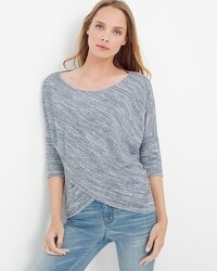 Cross-Front Sparkle Knit Top