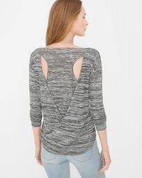Cutout-Back Long-Sleeve Tee