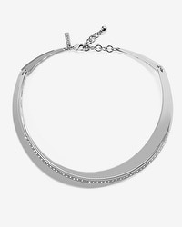 Pavé Silvertone Collar Necklace
