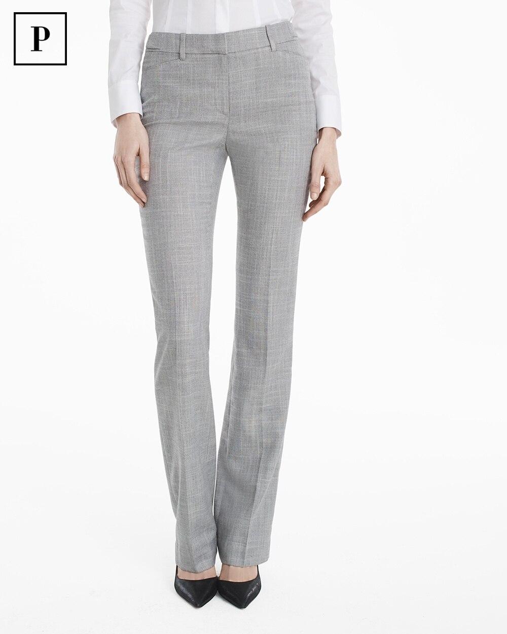 Petite Yarn Dye Slim Bootcut Suit Pants White House Black Market