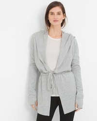 Long-Sleeve Drop-Front Jacket