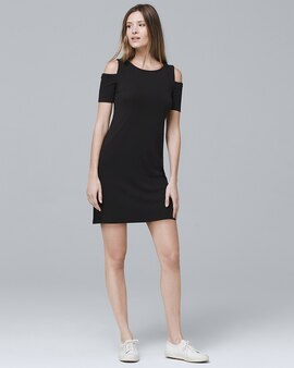 White House Black Market Cold Shoulder Knit Shift Dress
