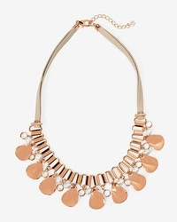 Leather Teardrop Short Necklace