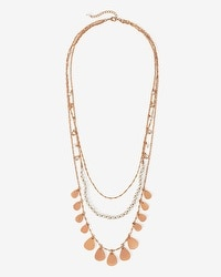 Freshwater Pearl Teardrop Multi-Row Necklace