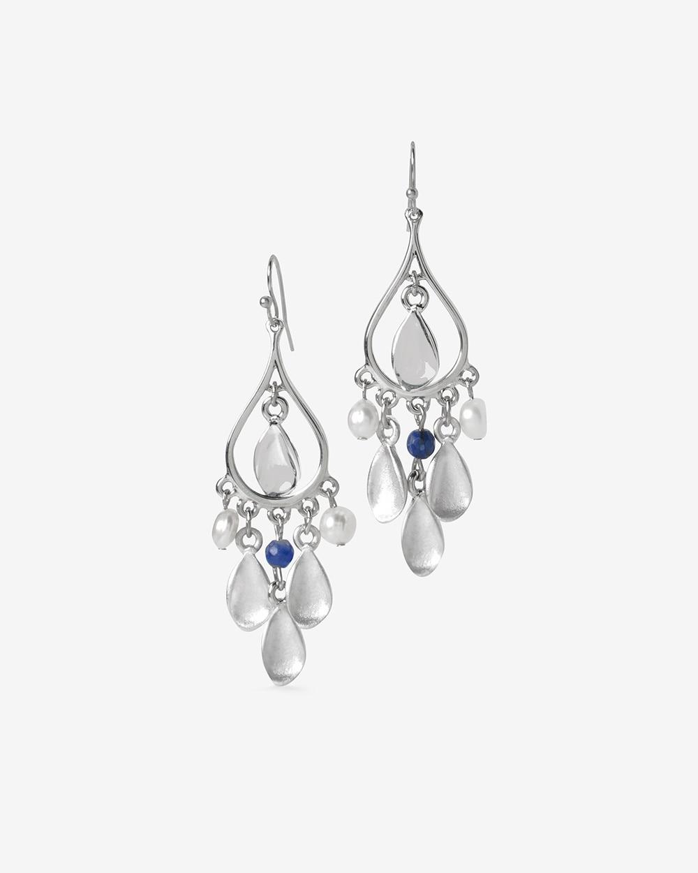 Sodalite Teardrop Chandelier Earrings