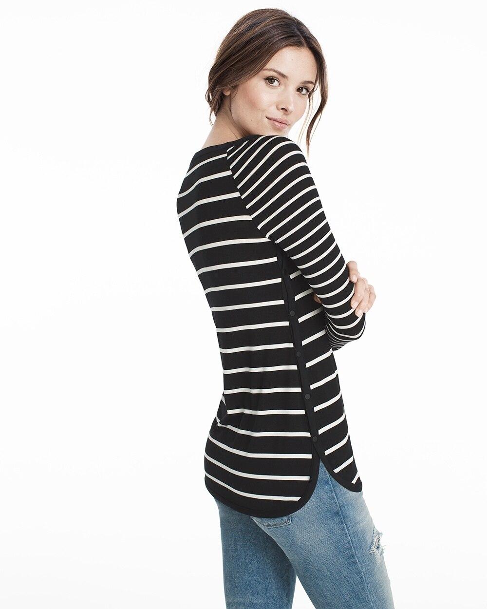 Black & White Long-Sleeve Stripe Tunic - WHBM