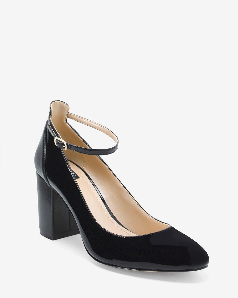 Black Patent Leather Chunky Heel Mary Janes - White House Black Market