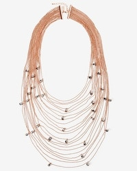 Rose Gold Multi-Row Chain Necklace