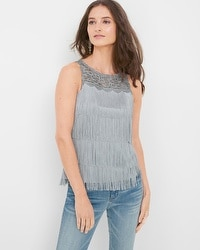 Sleeveless Fringe Top