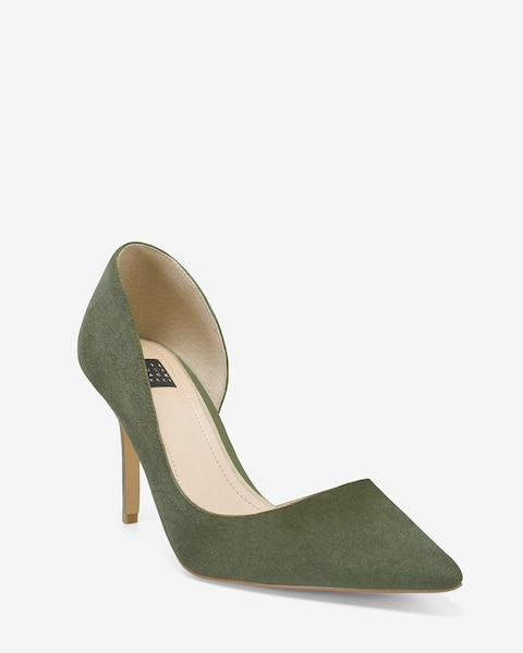 09ed67b158 Ella Military Green Suede d'Orsay Pumps - White House Black Market