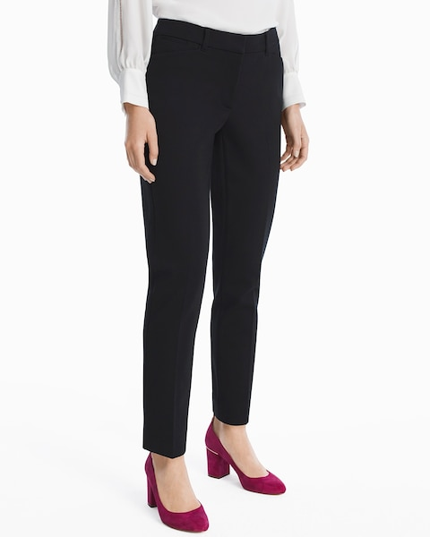 Womens Ponte Slim Ankle Pants By White House Black Market