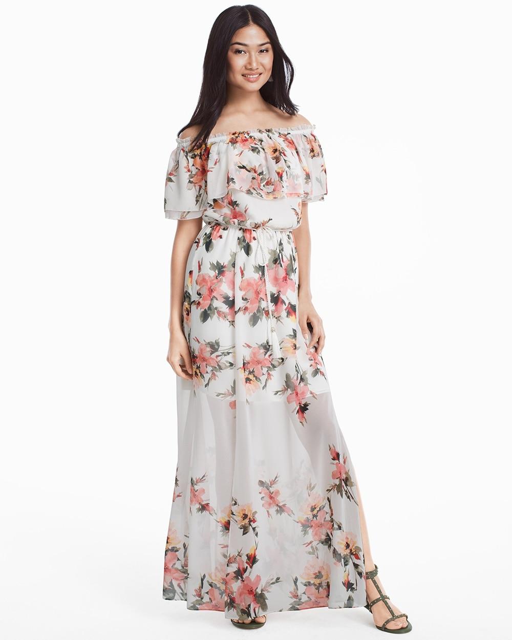 Floral White Maxi Dress