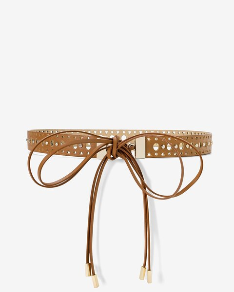 Womens Leather Cutout Skinny Belt By White House Black Market