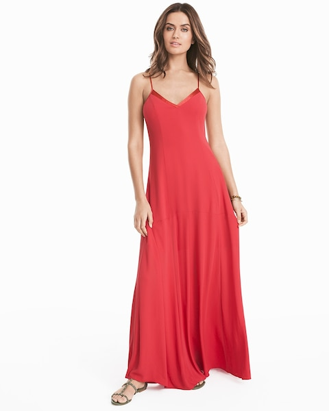 48d2b474bb93 Return to thumbnail image selection Tie-Up Slip Maxi Dress video preview  image, click to start video