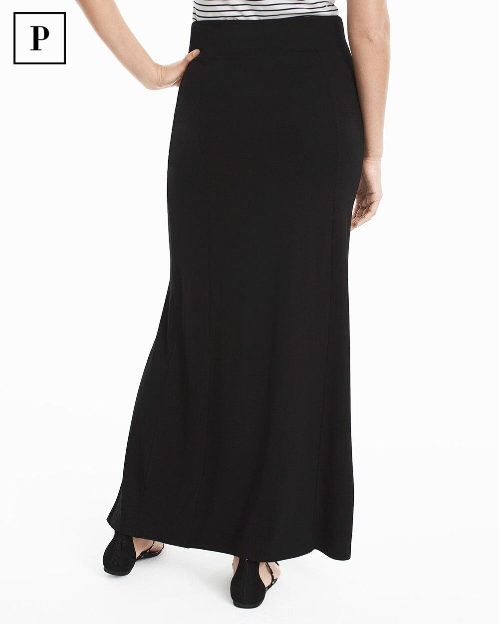 black knit maxi skirt whbm