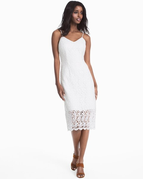 b6fd7467ad8c5 White Lace Slip Dress - White House Black Market
