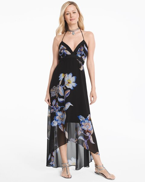 881b78c3e89 Return to thumbnail image selection Floral High-Low Maxi Dress video  preview image