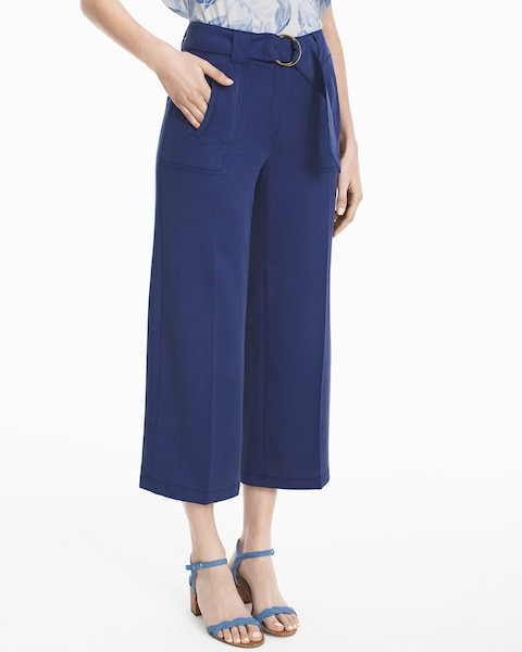 Womens Wide-leg Crop Pants By White House Black Market