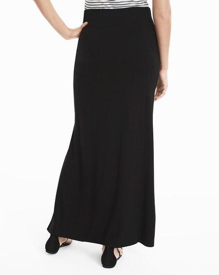 Black Knit Maxi Skirt - White House Black Market