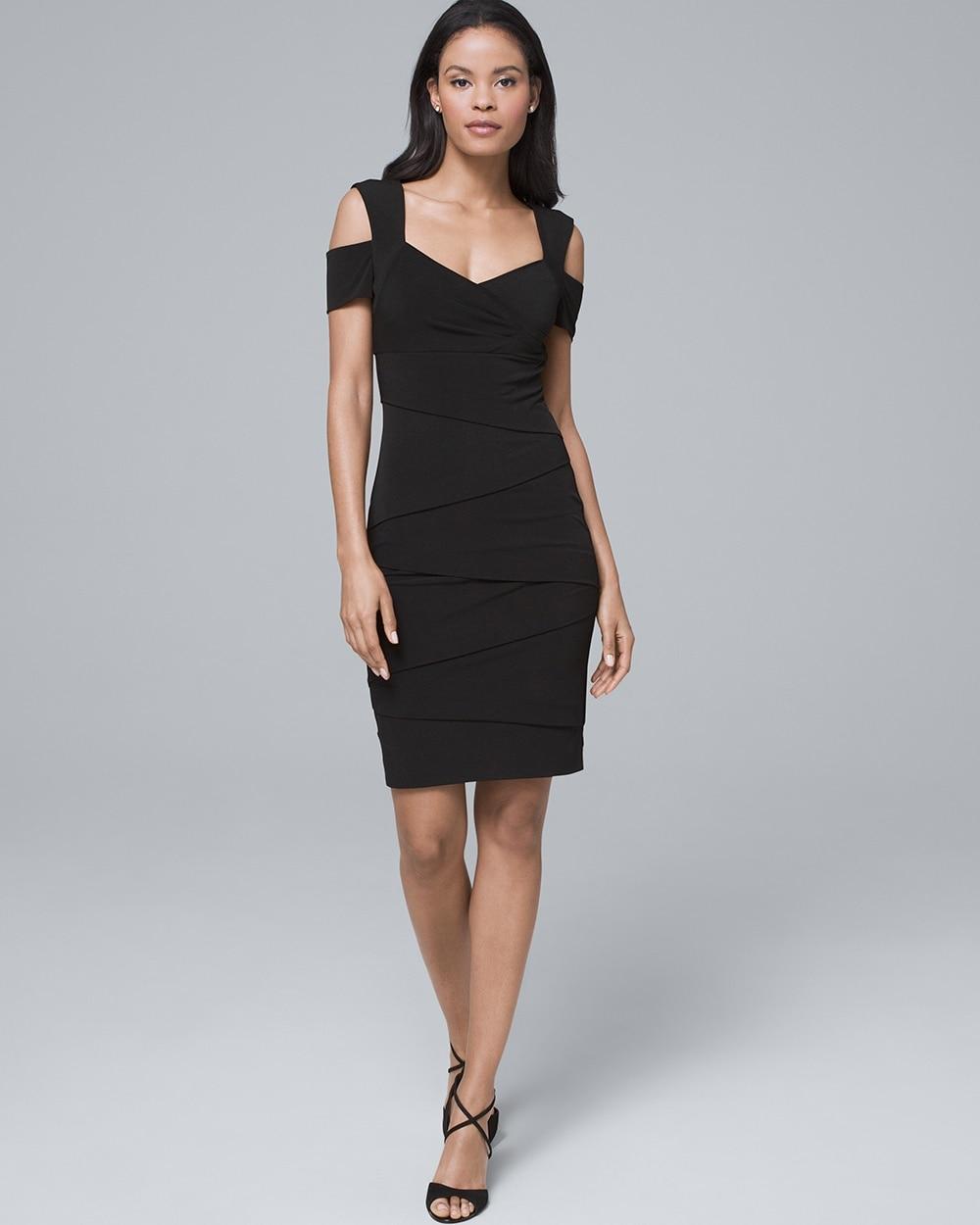 Cold Shoulder Black Instantly Slimming Dress White House Black Market