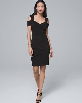 White House Black Market Cold-Shoulder Black Instantly Slimming Dress at White House | Black Market in Sherman Oaks, CA | Tuggl