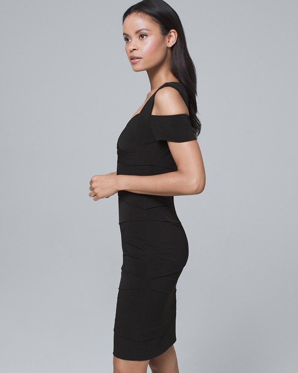6bb840c239989 Return to thumbnail image selection Cold-Shoulder Black Instantly Slimming  Dress