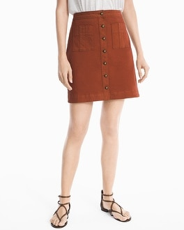 A-line Button-Front Skirt | Tuggl