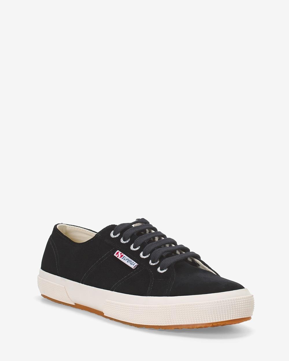 2750 Superga Black Velvet Sneakers