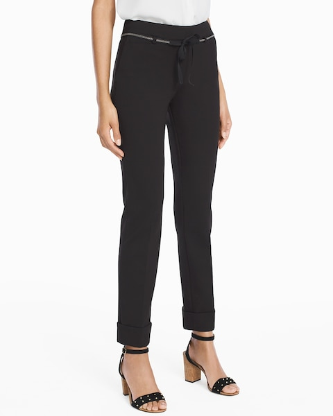 Womens Ponte Girlfriend Pants By White House Black Market