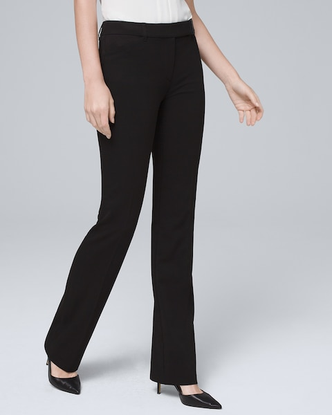 Womens Seasonless Bootcut Black Pants By White House Black Market