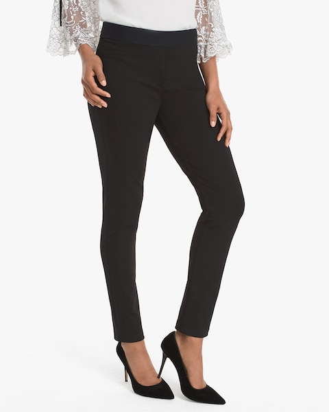 Womens Ponte Zip Ankle Trouser