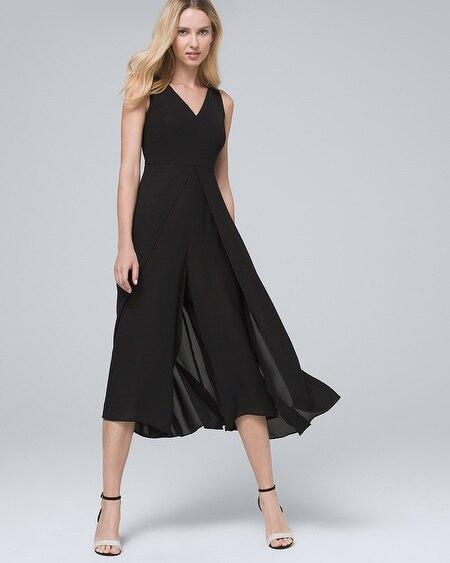 c79fae5b7d3 Wide-Leg Black Jumpsuit - White House Black Market