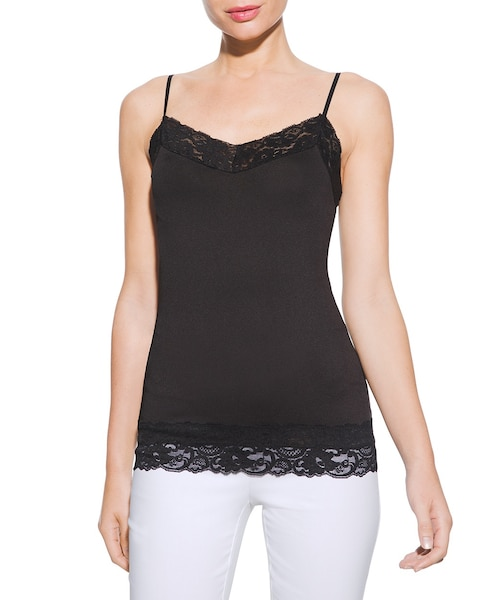 WHBM Outlet Wide-Lace Trim Cami