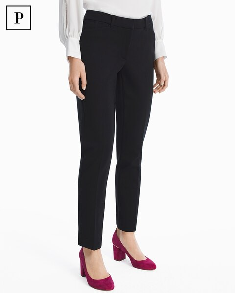 Womens Petite Ponte Slim Ankle Pants By White House Black Market