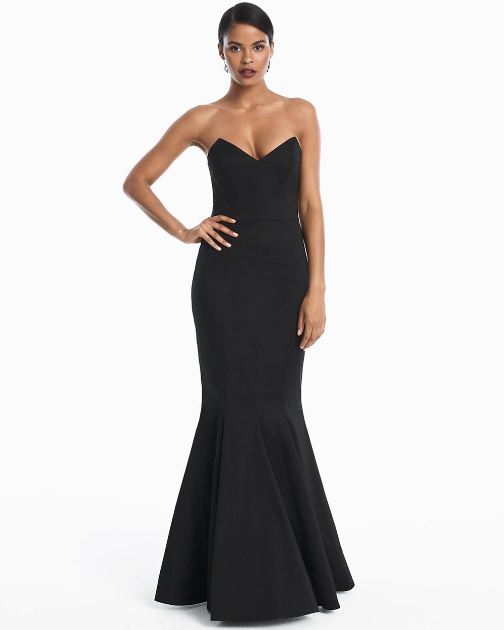 Black Strapless Mermaid Gown - White House Black Market
