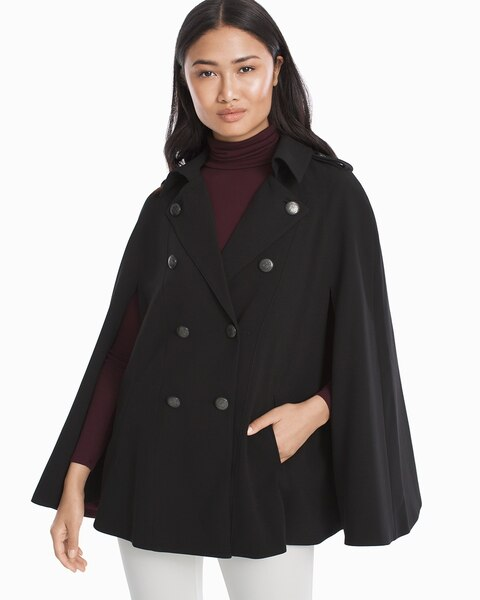 Womens Double-breasted Cape By White House Black Market