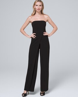 White House Black Market Convertible Strapless Split Leg Jumpsuit
