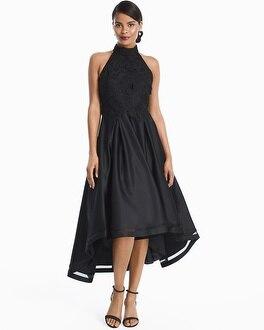 White House Black Market High-Low Black Lace And Satin Dress at White House | Black Market in Sherman Oaks, CA | Tuggl